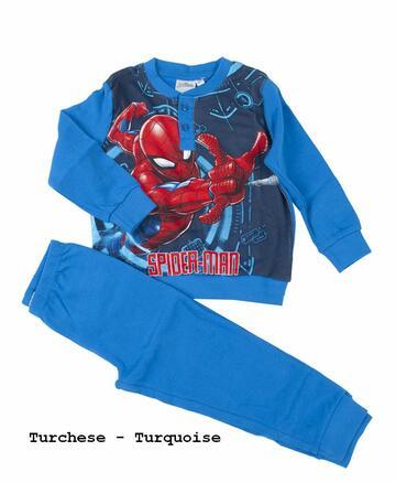 Pigiama da bambino in CALDO cotone Marvel Spiderman SPM-0018 - CIAM Centro Ingrosso Abbigliamento