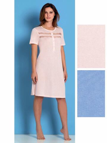 Camicia da notte donna in modal a manica corta Linclalor 03439 - CIAM Centro Ingrosso Abbigliamento