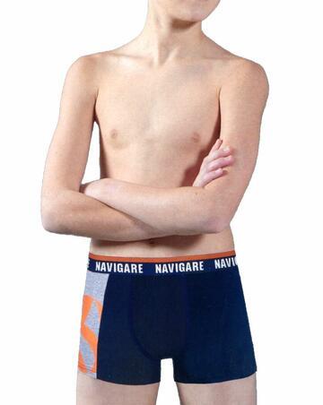Boxer ragazzo in cotone elasticizzato Navigare 1005ZJ - CIAM Centro Ingrosso Abbigliamento