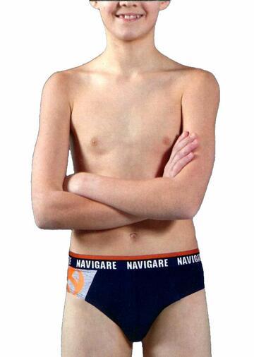 Slip ragazzo in cotone elasticizzato Navigare 1006ZJ - CIAM Centro Ingrosso Abbigliamento