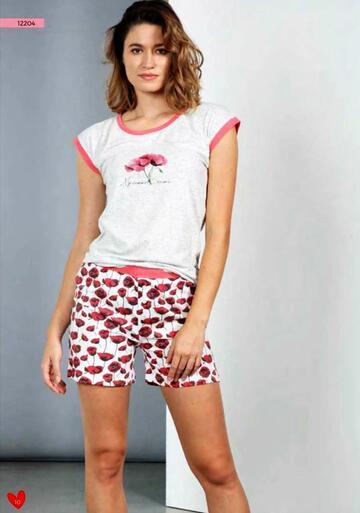 Pigiama donna a manica corta in cotone Dolcissime 12204 - CIAM Centro Ingrosso Abbigliamento