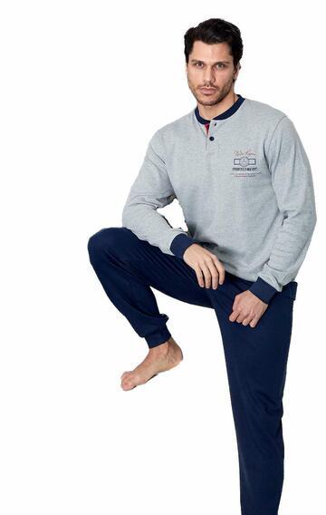 Pigiama uomo CALIBRATO in cotone caldo Navigare 141223B - CIAM Centro Ingrosso Abbigliamento