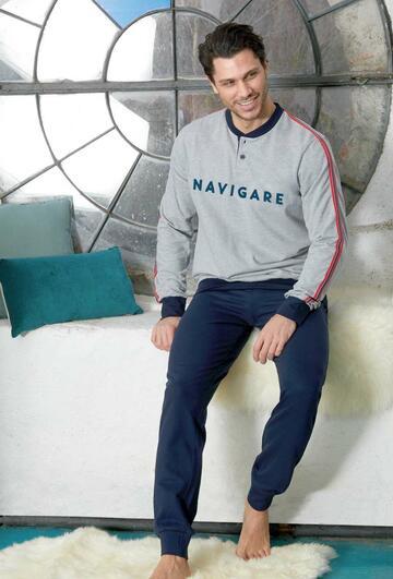 Pigiama uomo in cotone felpato Navigare 141249 - CIAM Centro Ingrosso Abbigliamento