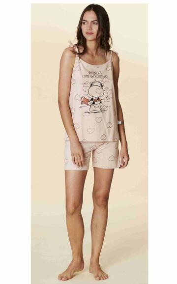 Pigiama spalla stretta donna in cotone Crazy Farm 15601 - CIAM Centro Ingrosso Abbigliamento