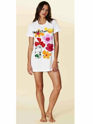 Maxi maglia donna in cotone Crazy Farm 15624 - CIAM Centro Ingrosso Abbigliamento