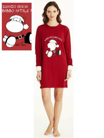 Camicia da notte donna in caldo cotone Crazy Farm 15667 - CIAM Centro Ingrosso Abbigliamento