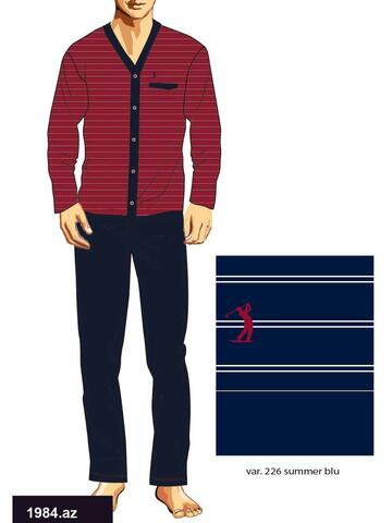 Pigiama uomo aperto in cotone Bip Bip 1984 - CIAM Centro Ingrosso Abbigliamento