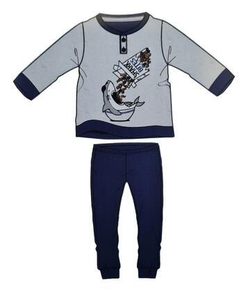 PIGIAMA BAMBINO MANICA LUNGA COTONE INES 035-4104 - CIAM Centro Ingrosso Abbigliamento