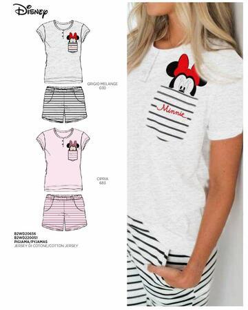Pigiama donna in cotone a manica corta Disney B2WD20656 - CIAM Centro Ingrosso Abbigliamento