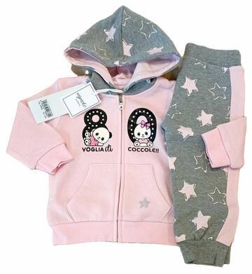 21120Tuta jogging da neonata in felpa Mignolo 21120 - CIAM Centro Ingrosso Abbigliamento