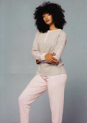 Pigiama donna cotone caldo Kappa KWW 21398 - CIAM Centro Ingrosso Abbigliamento