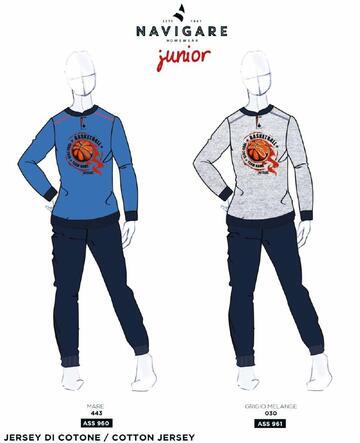 Pigiama in cotone ragazzo Navigare Junior 215611 - CIAM Centro Ingrosso Abbigliamento