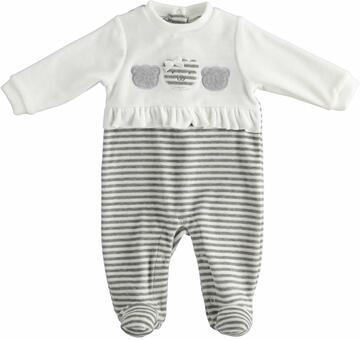 Tutina da neonata in ciniglia Mignolo 23148 - CIAM Centro Ingrosso Abbigliamento