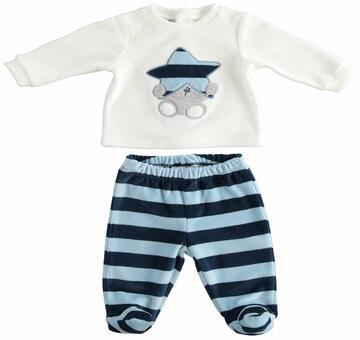 Completo clinico 2 pezzi neonato in ciniglia Mignolo 23200 - CIAM Centro Ingrosso Abbigliamento