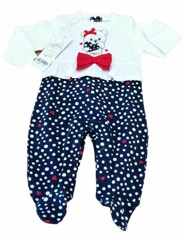 Tutina in cotone neonato Mignolo 22335 - CIAM Centro Ingrosso Abbigliamento
