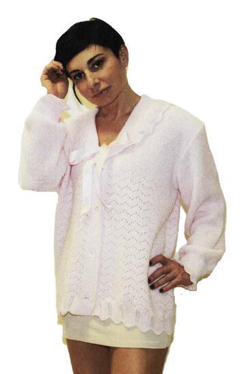Liseuse donna CALIBRATA misto lana con bottoni La Rocca Lingerie 233 - CIAM Centro Ingrosso Abbigliamento