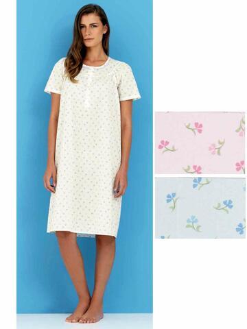 Camicia da notte donna in TESSUTO battista Linclalor 29079 - CIAM Centro Ingrosso Abbigliamento