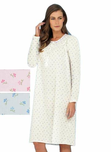 Camicia da notte donna in tessuto battista Linclalor 29083 - CIAM Centro Ingrosso Abbigliamento