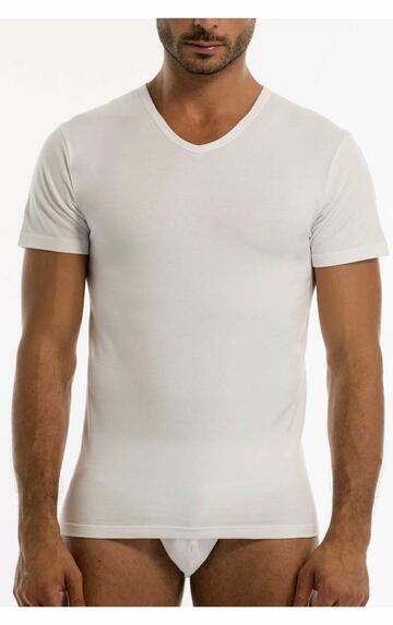 T-shirt uomo in cotone bielastico scavo a V Garda 3475 - CIAM Centro Ingrosso Abbigliamento