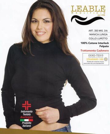 Maglia donna a lupetto incaldo cotone Leable 350 - CIAM Centro Ingrosso Abbigliamento