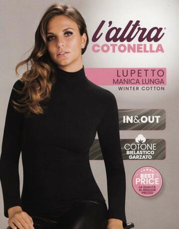 Maglia donna in cotone garzato a lupetto L'Altra Cotonella 3511 - CIAM Centro Ingrosso Abbigliamento