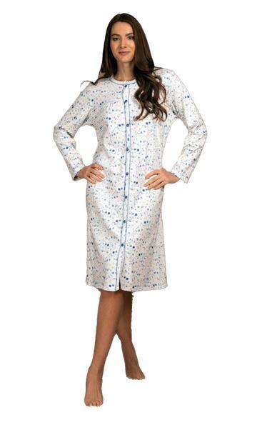 Camicia da notte donna CLINICA in cotone caldo Silvia 41515 - CIAM Centro Ingrosso Abbigliamento