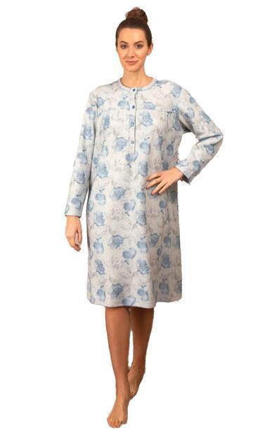 Camicia da notte in cotone lanato Silvia 41702 - CIAM Centro Ingrosso Abbigliamento