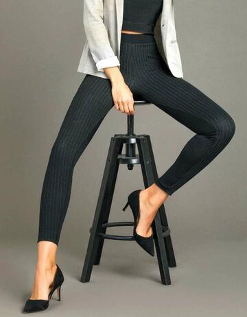 Leggings donna moda con inserto gessato Jadea 4280 - CIAM Centro Ingrosso Abbigliamento