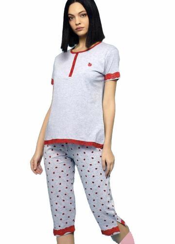 Pigiama donna a manica corta in cotone e pinocchietto Cippi 4677 - CIAM Centro Ingrosso Abbigliamento