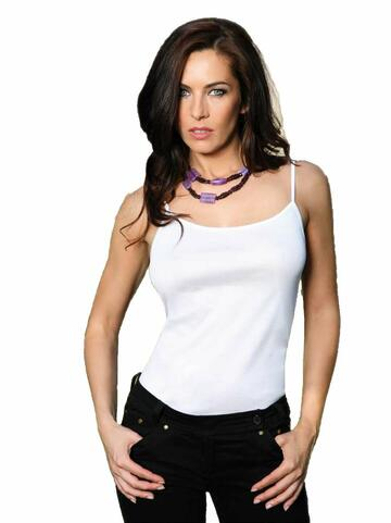 Canottiera donna spallina stretta in cotone mercerizzato Rosanna 520 S/S BIANCO - CIAM Centro Ingrosso Abbigliamento