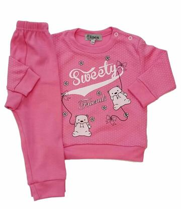 Pigiama da neonata in cotone caldo Ines 521 - CIAM Centro Ingrosso Abbigliamento
