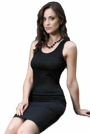 Canottiera donna spalla larga in cotone mercerizzato Rosanna 530 S/L NERO - CIAM Centro Ingrosso Abbigliamento