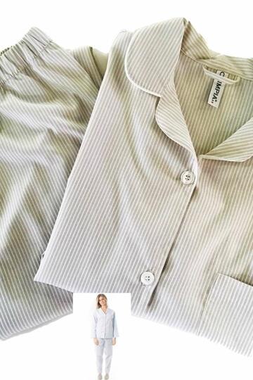 Pigiama donna aperto in TESSUTO di cotone Olimpia 552 - CIAM Centro Ingrosso Abbigliamento