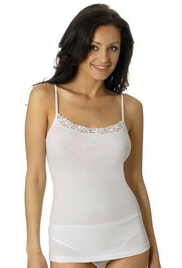 Canottiera donna in cotone e pizzo Vayolet 5551 - CIAM Centro Ingrosso Abbigliamento