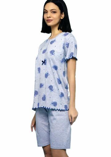 Pigiama donna CALIBRATO a manica corta cotone Cippi 5662 - CIAM Centro Ingrosso Abbigliamento