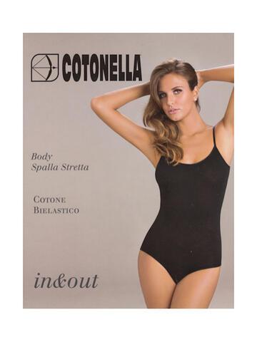 Art. GD008Body donna spalla stretta in cotone bielastico Cotonella GD008 - CIAM Centro Ingrosso Abbigliamento