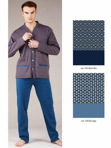 Pigiama uomo aperto in cotone caldo Bip Bip 6352 - CIAM Centro Ingrosso Abbigliamento