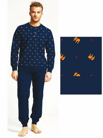 Pigiama uomo in cotone caldo Bip Bip 6357 - CIAM Centro Ingrosso Abbigliamento