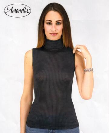 Maglia donna a lupetto smanicato in micro lana Antonella 64154 - CIAM Centro Ingrosso Abbigliamento