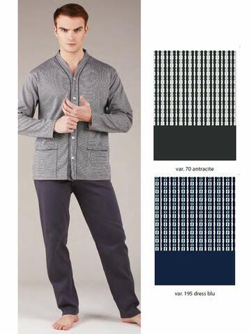 Pigiama uomo aperto in cotone caldo Bip Bip 6423 Tg. 4/7 - CIAM Centro Ingrosso Abbigliamento