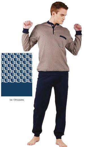 Pigiama uomo con polsini in cotone caldo Bip Bip 6425 - CIAM Centro Ingrosso Abbigliamento