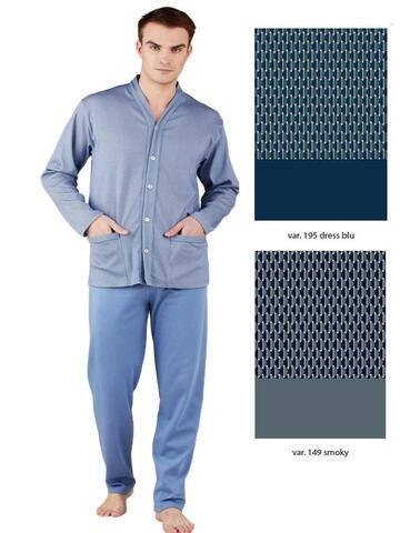 Pigiama uomo aperto in cotone caldo Bip Bip 6441 Tg.4/7 - CIAM Centro Ingrosso Abbigliamento