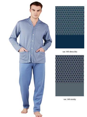 Pigiama uomo aperto TAGLIE FORTI in cotone caldo Bip Bip 6441 Tg.58-60 - CIAM Centro Ingrosso Abbigliamento