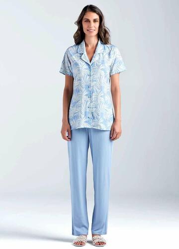 Pigiama donna in cotone modal Lormar Palm Tree 650388 - CIAM Centro Ingrosso Abbigliamento
