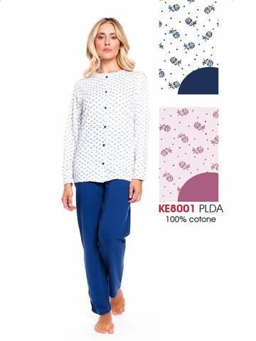 ART. KE8001Ke8001 pigiama ml aperto donna - CIAM Centro Ingrosso Abbigliamento