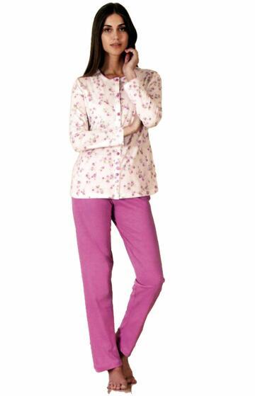 Pigiama donna con giacca aperta in cotone Linclalor 73927 - CIAM Centro Ingrosso Abbigliamento