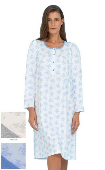 Camicia da notte CALIBRATA in cotone Linclalor 74299 - CIAM Centro Ingrosso Abbigliamento