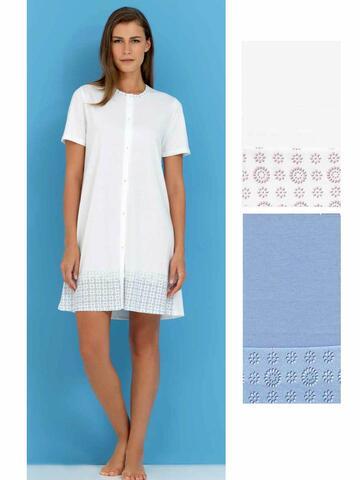 Camicia da notte mammina a manica corta in jersey di cotone Linclalor 74111 - CIAM Centro Ingrosso Abbigliamento