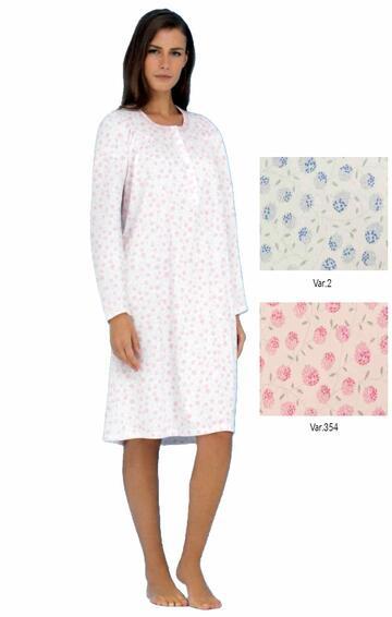 Camicia da notte in cotone Linclalor 74175 - CIAM Centro Ingrosso Abbigliamento