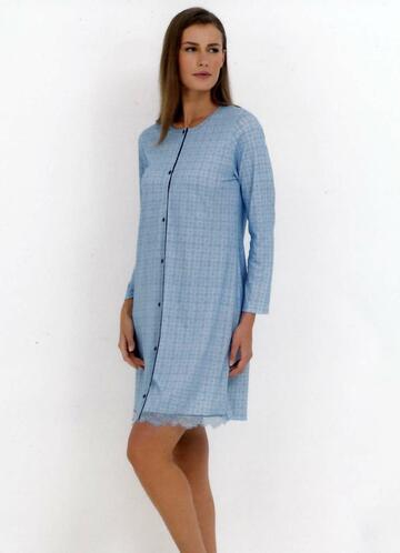 Camicia da notte clinica in jersey di cotone Linclalor 74329 - CIAM Centro Ingrosso Abbigliamento